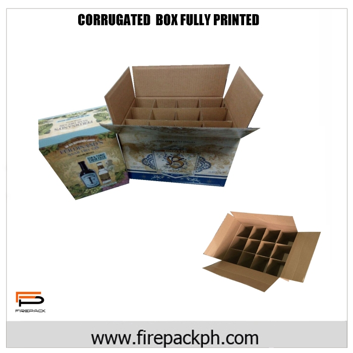 corrugated box with print