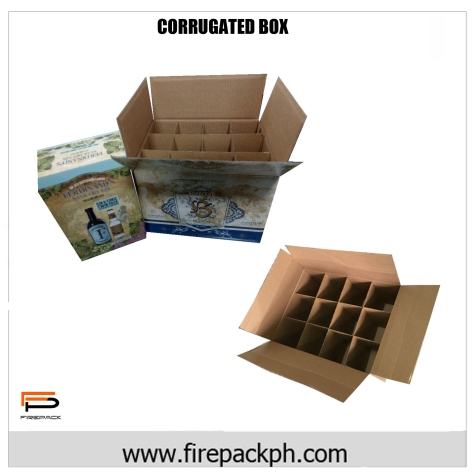 corrugated box with printed logo