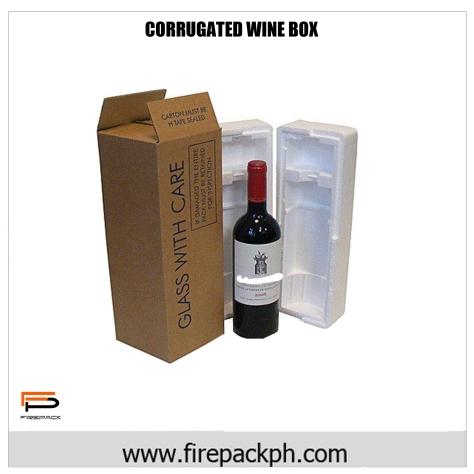 corrugated wine box white custom print