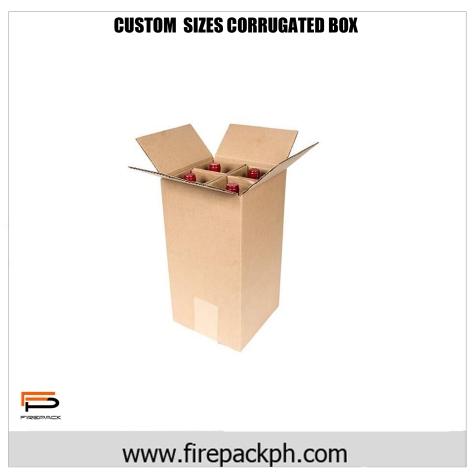 corrugted box or wine carton