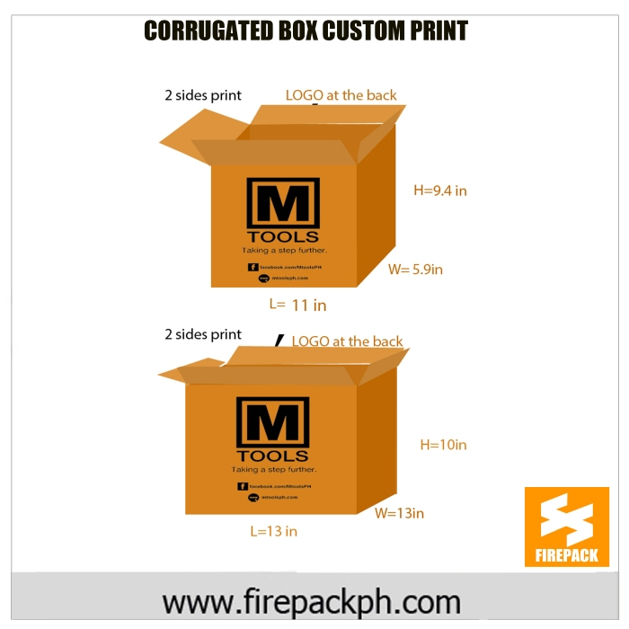 customized printing corrugated box firepack