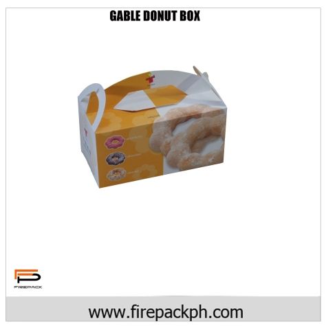 donut box gable 2 carton