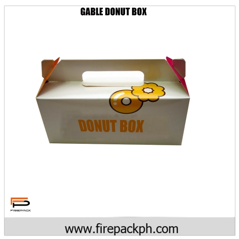 donut box gable carton