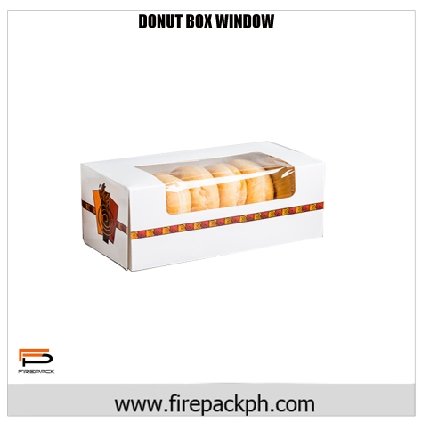 donut box window carton