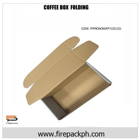 foldable corrugated coffee box