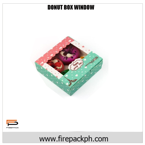 happy donut carton with window design