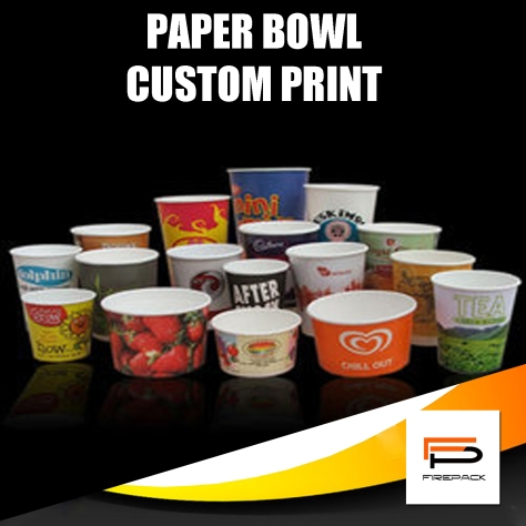paper bowl full color customized