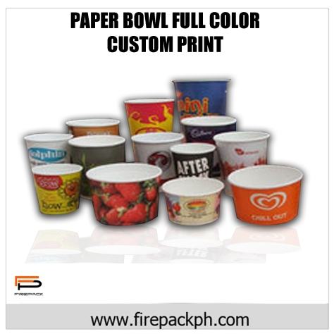 paper bowl full color design