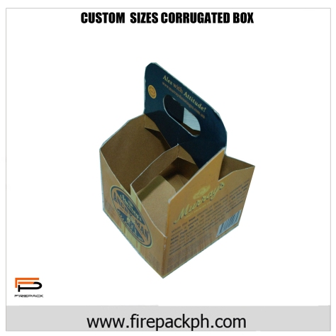 wine box carrier corrugated carton
