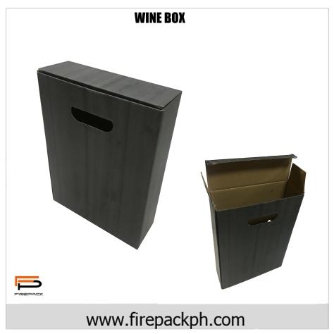 wine box corrugated laminated