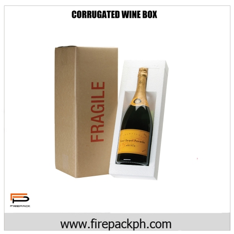 wine box corrugated