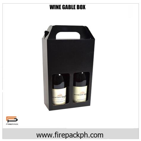 wine box solid black gable gable