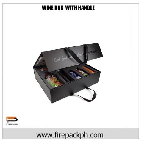 wine box with handle