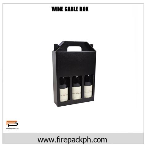 WINE GABLE BOX 3 BOTTLE