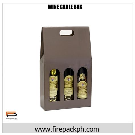 wine gable box 3 bottles