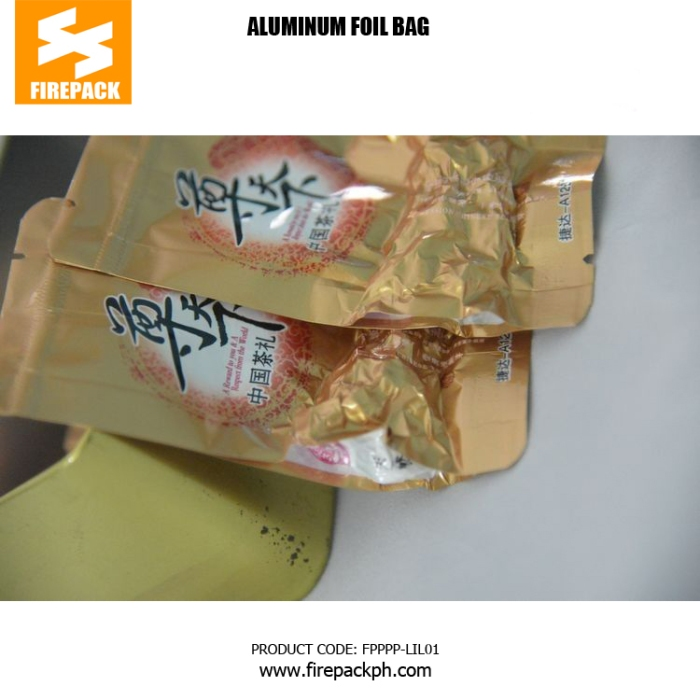 100g Bottom Gusset Aluminum Foil Bags , Laminated Foil Stand Up Vacuum Pouches firepack