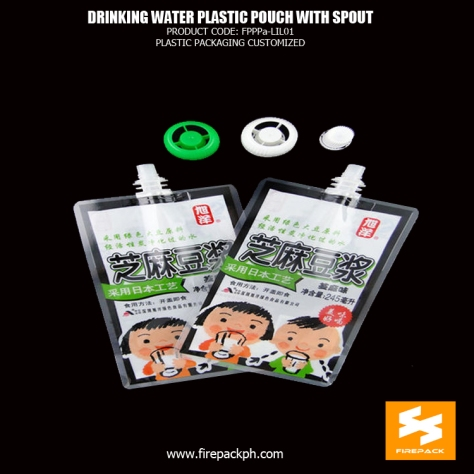 10L 5l 3l drinking water plastic pouch with spout , mineral - soymilk liquid packaging bags supplier cebu