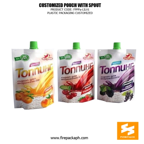 120Ml - 140ml - 200ml stand up food spout pouches for fruit energy beverage dubai supplier