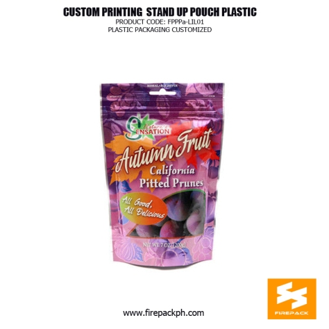 250G matt finishied zip lock Stand Up Pouches , doypack packaging with tear notch drip supplier