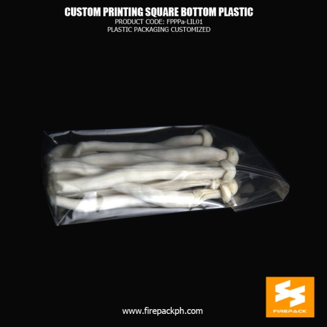 3Gravure Printing Plastic Square Bottom Cellophone Bags For Packing firepack