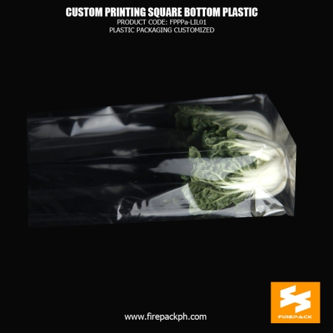 40 micron Stand up Pouch Plastic Square Bottom Cellophane Bags firepack supplier