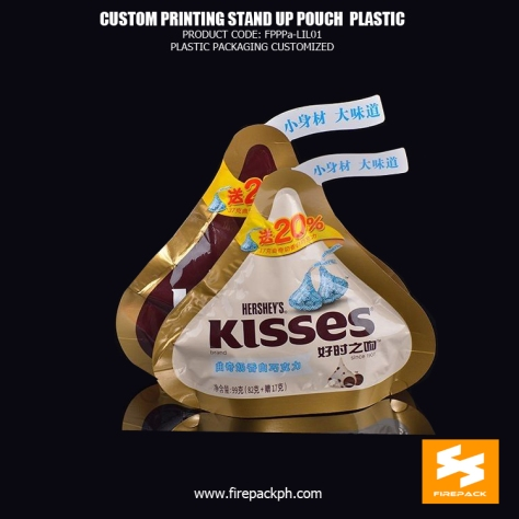 50g Special Shaped Stand up Chocolate Pouch , Chocolate Packaging Bag manila supplier