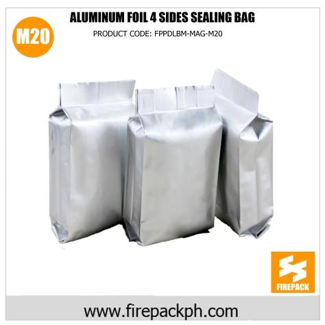 aluminum foil 4 sides sealing bag supplier cebu m20