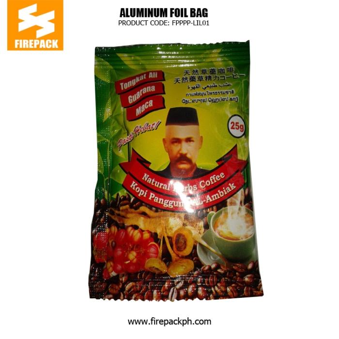 Aluminum Foil Coffee Bag Packaging Moisture Proof With Red Gravure Printing firepack cebu