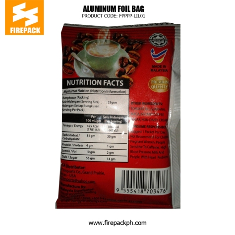 Aluminum Foil Coffee Bag Packaging Moisture Proof With Red Gravure Printing firepack philippines