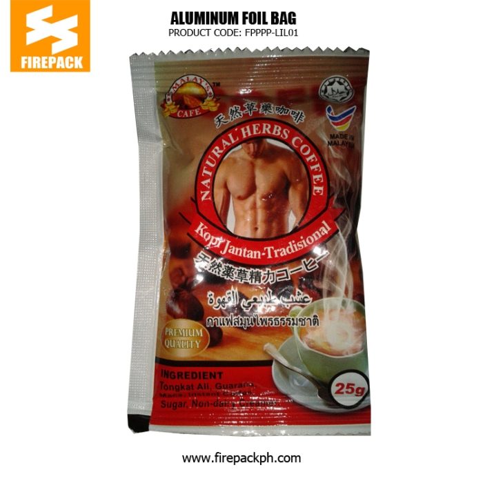 Aluminum Foil Coffee Bag Packaging Moisture Proof With Red Gravure Printing firepack
