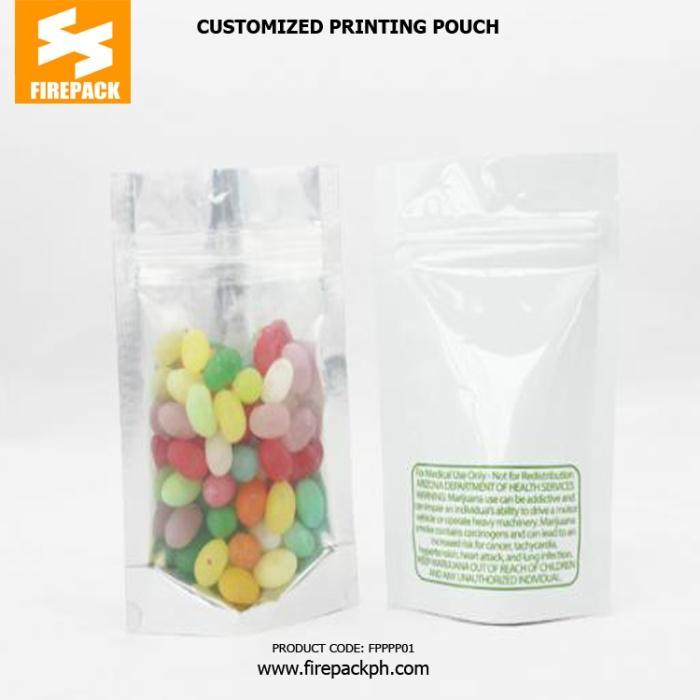 Aluminum Foil Plastic Ziplock Bags Customized , Gravure Printing firepack cebu