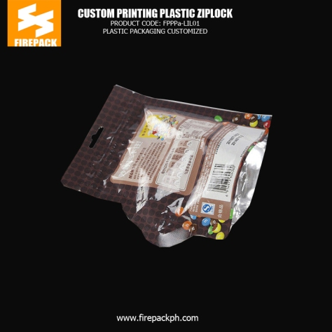 Aluminum Foil Snack Food Zipper - Gussetted Plastic Packaging Bag Company supplier