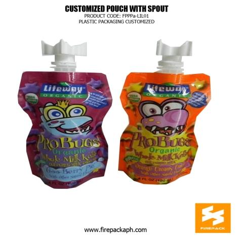 Aluminum Foil Spouted Pouches , 500ml -250ml Customized Fruit Juice Pouches supplier davao