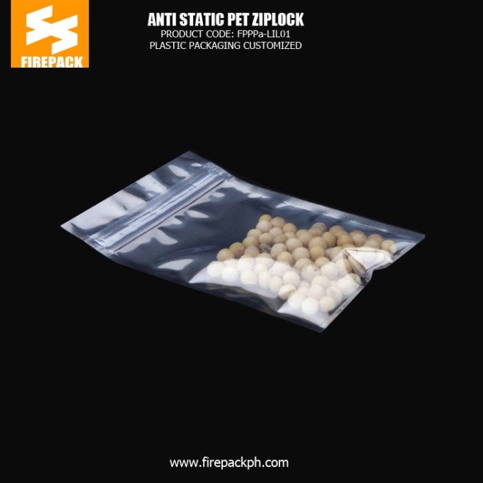 Aluminum Foil Tea Custom Plastic Ziplock Bags Miniature in Gold Silver manila supplier