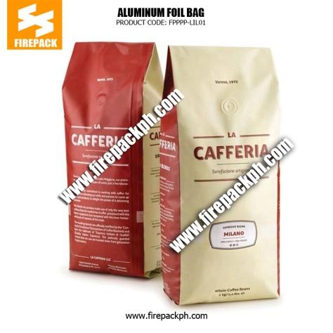 Aluminum Foil Zip Lock Bag Coffee Packaging Bags with Side Gusset , Moisture Proof supplier maker