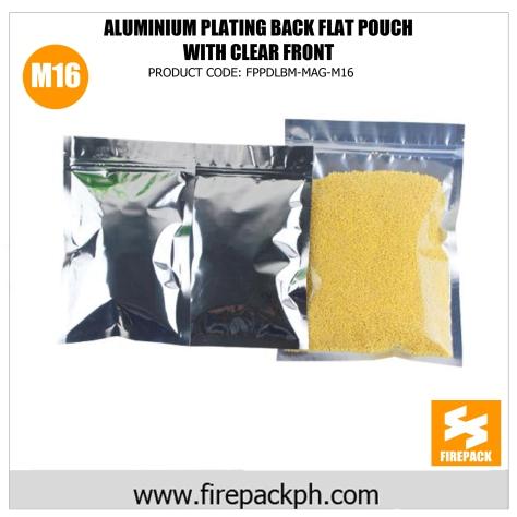 aluminum plating back flat pouch supplier cebu m16