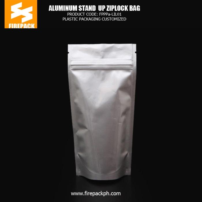 aluminum stand up pouch supplier maker firepack