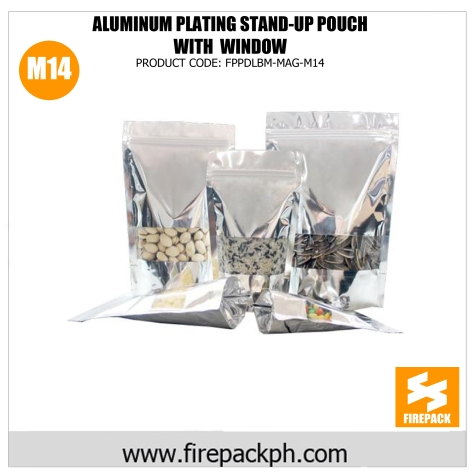 aluminum stand up pouch with window supplier m14