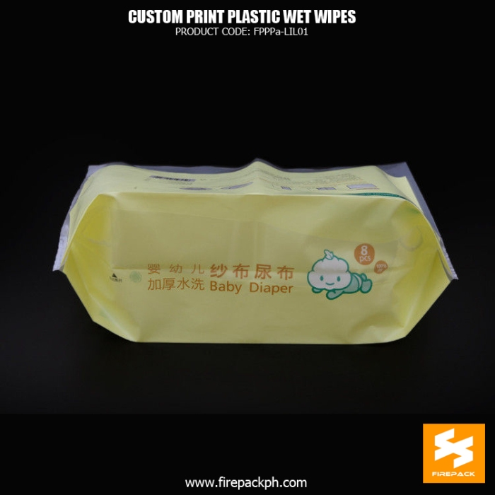 Baby Cleaning Side Gusset Wet Wipes Packaging With Open Label firepack supplier