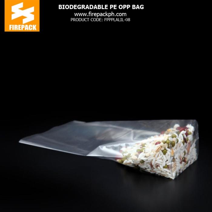 Biodegradable Pe Opp Packaging Bags , Heat Sealable Plastic Bags firepack