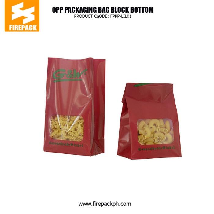 Block Bottom OPP Cellophane Clear Cello Bags for Gift Packaging bahrain plastic supplier
