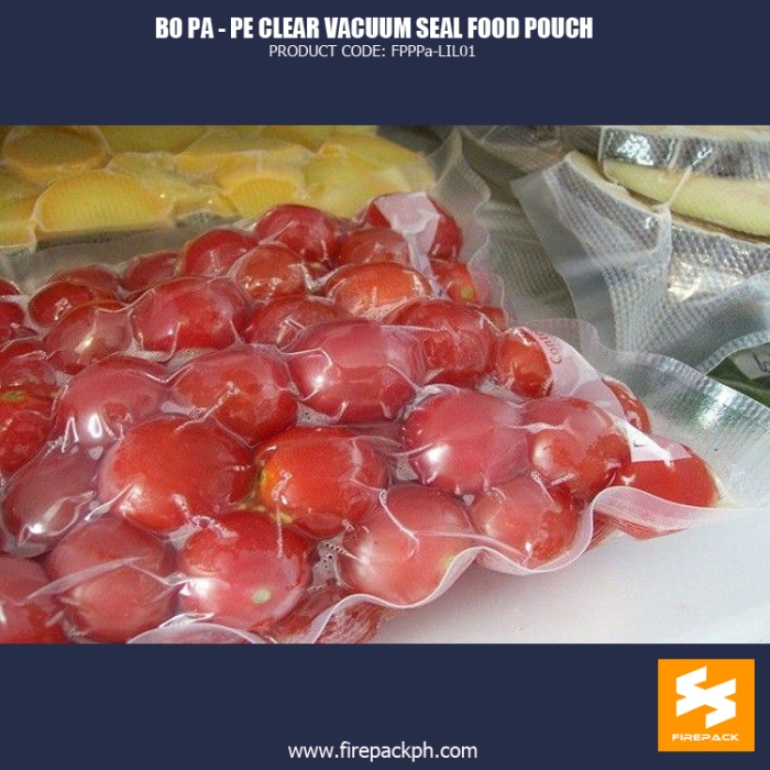 BOPA-PE Clear Vacuum Seal Food Pouch for Packing Meat fire pack