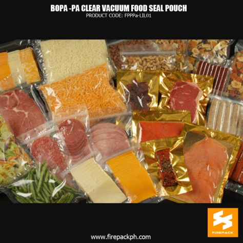 BOPA-PE Clear Vacuum Seal Food Pouch for Packing Meat supplier cebu manila