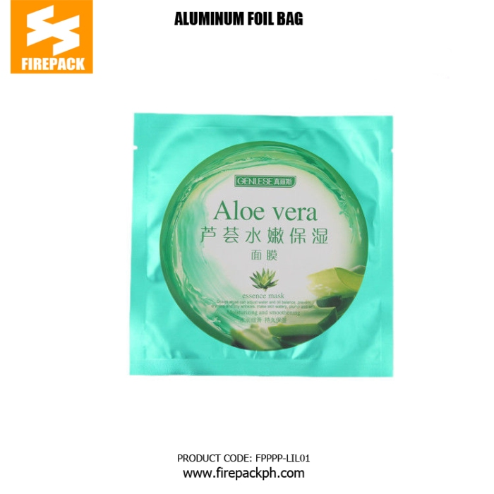 BOPP PE Aluminum Foil Bags With Heat Sealing For Facial Mask firepack