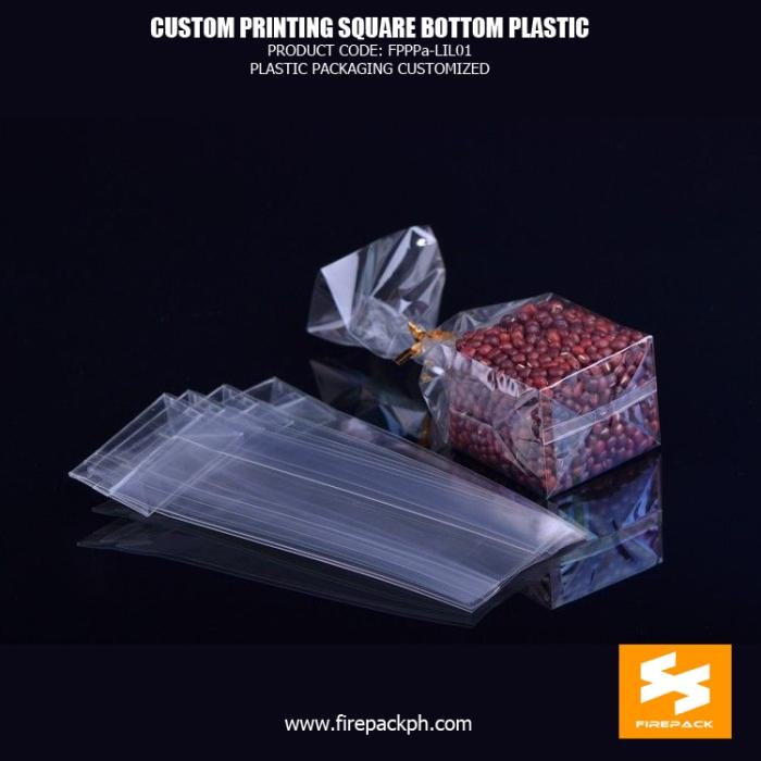BOPP Reinforce Square Block Bottom Bags , Plastic Cake Food OPP Bag bahrian supplier