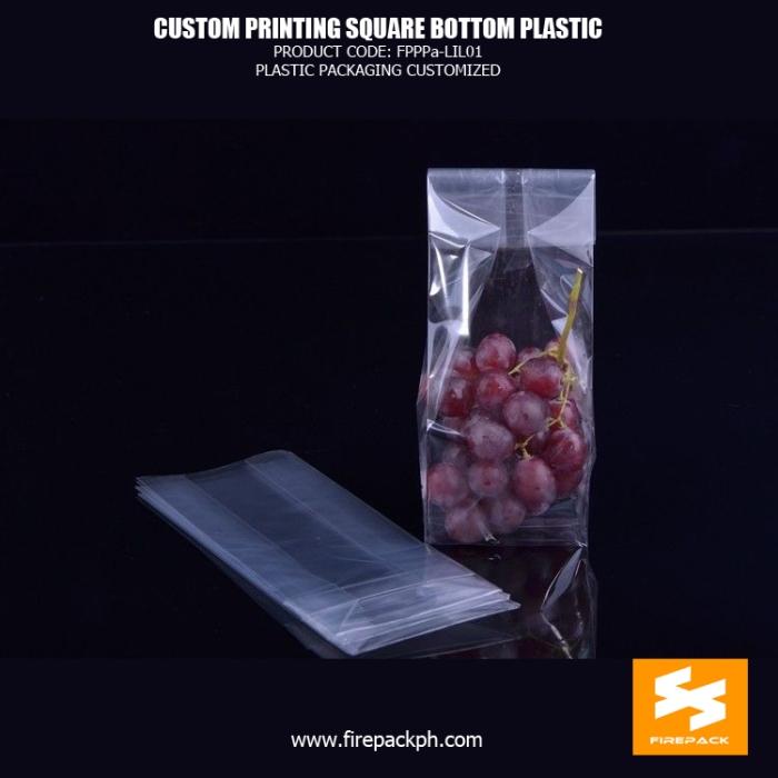 BOPP Reinforce Square Block Bottom Bags , Plastic Cake Food OPP Bag firepack manila