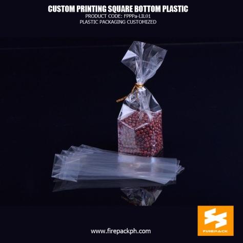 BOPP Reinforce Square Block Bottom Bags , Plastic Cake Food OPP Bag firepack