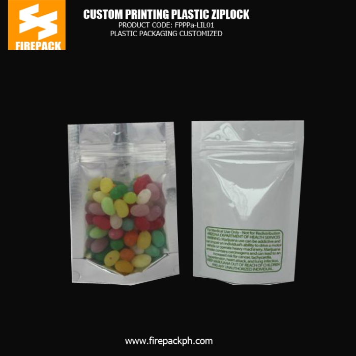 Bottom Gusset Plastic Ziplock Bags With Gravure Printing For Candy bahrain plastic supplier