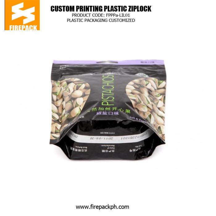 Candy Plastic Ziplock Bags , Gravure Printing Zipper Pouch dubai plastic supplier