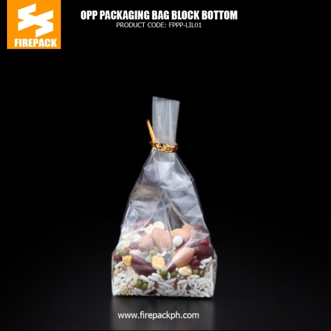 Candy- Snack Food OPP Customized Packaging Bags - Block Bottom Bags customized printing